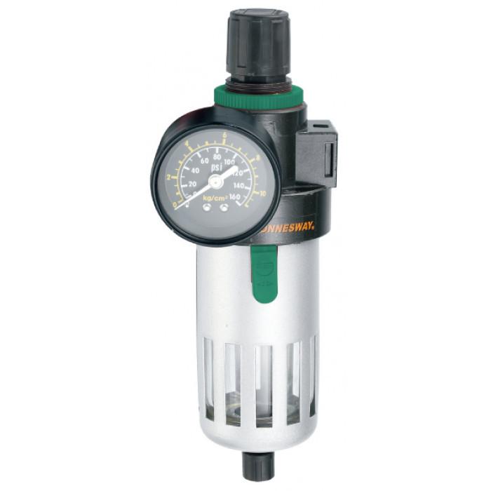 """Фільтр (влагоотделитель) з регулятором тиску для пневматики 1/2"""" Jonnesway JAZ-0534 (Тайвань)"""