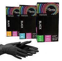 Черные одноразовые перчатки SanGig, 100 шт