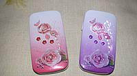 Телефон раскладушка Samsung W666 (2 сим карты) роза в цветах