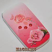 Женский телефон раскладушка Samsung W 666 (2 сим карты) роза в цветах