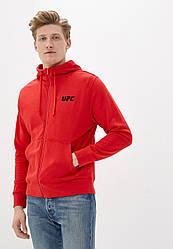 Толстовка чоловіча на блискавці UFC, червона