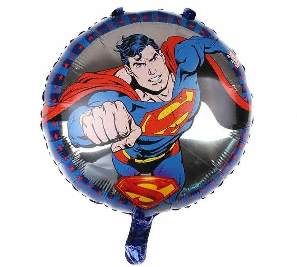 """Фольгированный шар круг """"Супермен"""" 18"""" Китай"""