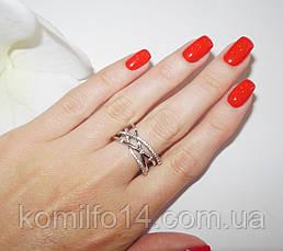 Серебряное кольцо с фианитами, фото 3