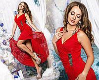 Платье длинное гипюровое, 022 КТ, фото 1