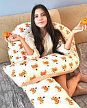 Подушки для вагітних та годування дитини, U-подібна 170 см + знімна наволочка, Подушка для вагітних,, фото 8
