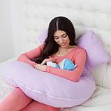 Подушки для вагітних та годування дитини, U-подібна 170 см + знімна наволочка, Подушка для вагітних,, фото 10