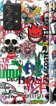"Чехол на Samsung Galaxy A72 A725F Many different logos ""4022c-2247-2448"""
