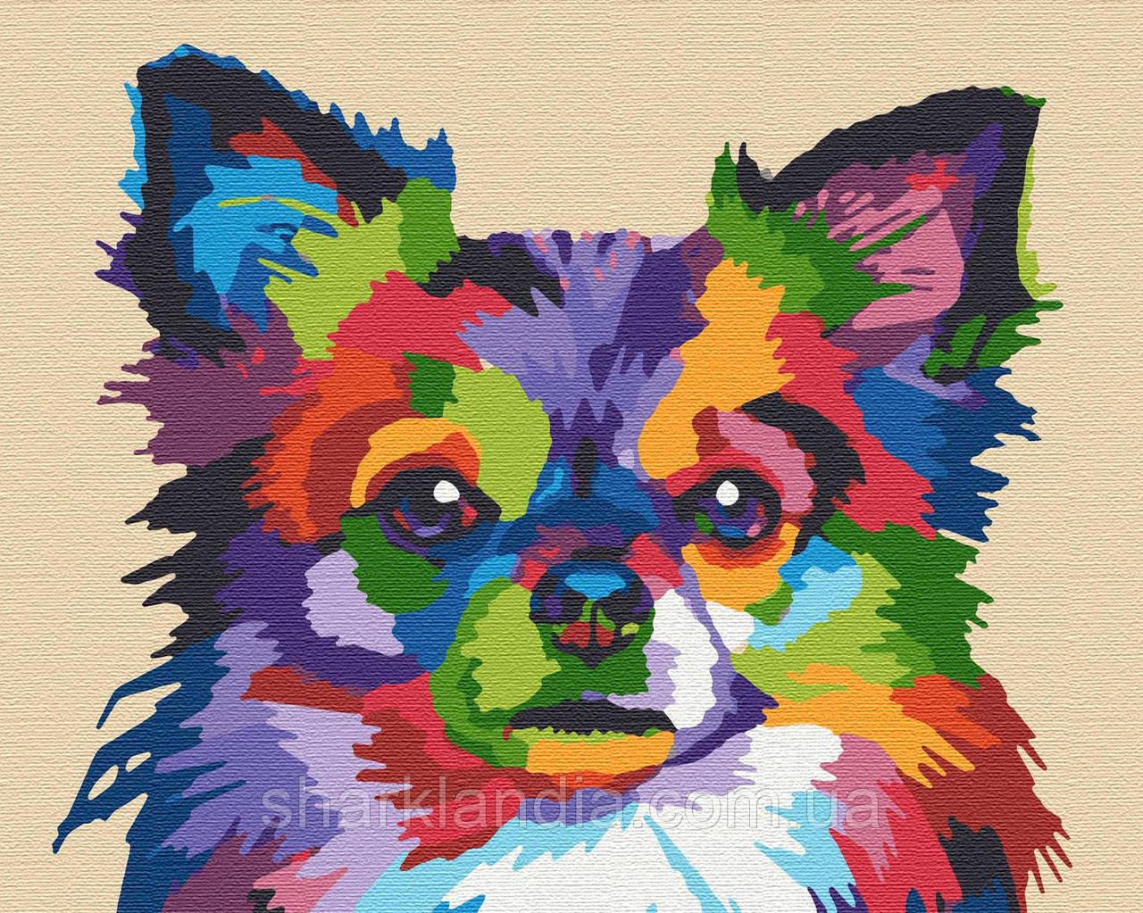 Картина по номерам Собачка  40*50см Riviera Blanca Раскраски Пес Собаки