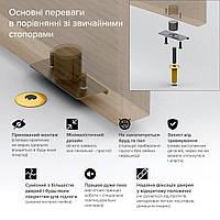 Скрытый стопор дверной магнитный Fantom Doorstop Premium 28 мм золото (FDP2801)