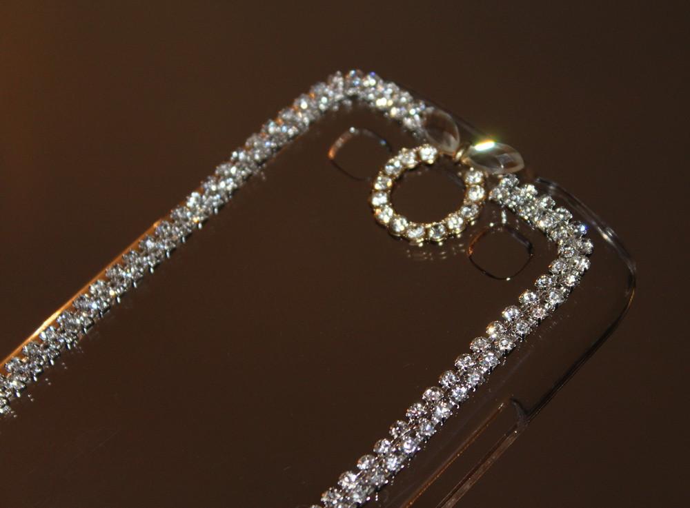 Чехол для Samsung S3 I9300 прозрачный с кристаллами, фото 1