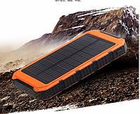Внешний аккумулятор PowerBank водонепроницаемый зарядное солнечная батарея для смартфонов 4000 mah