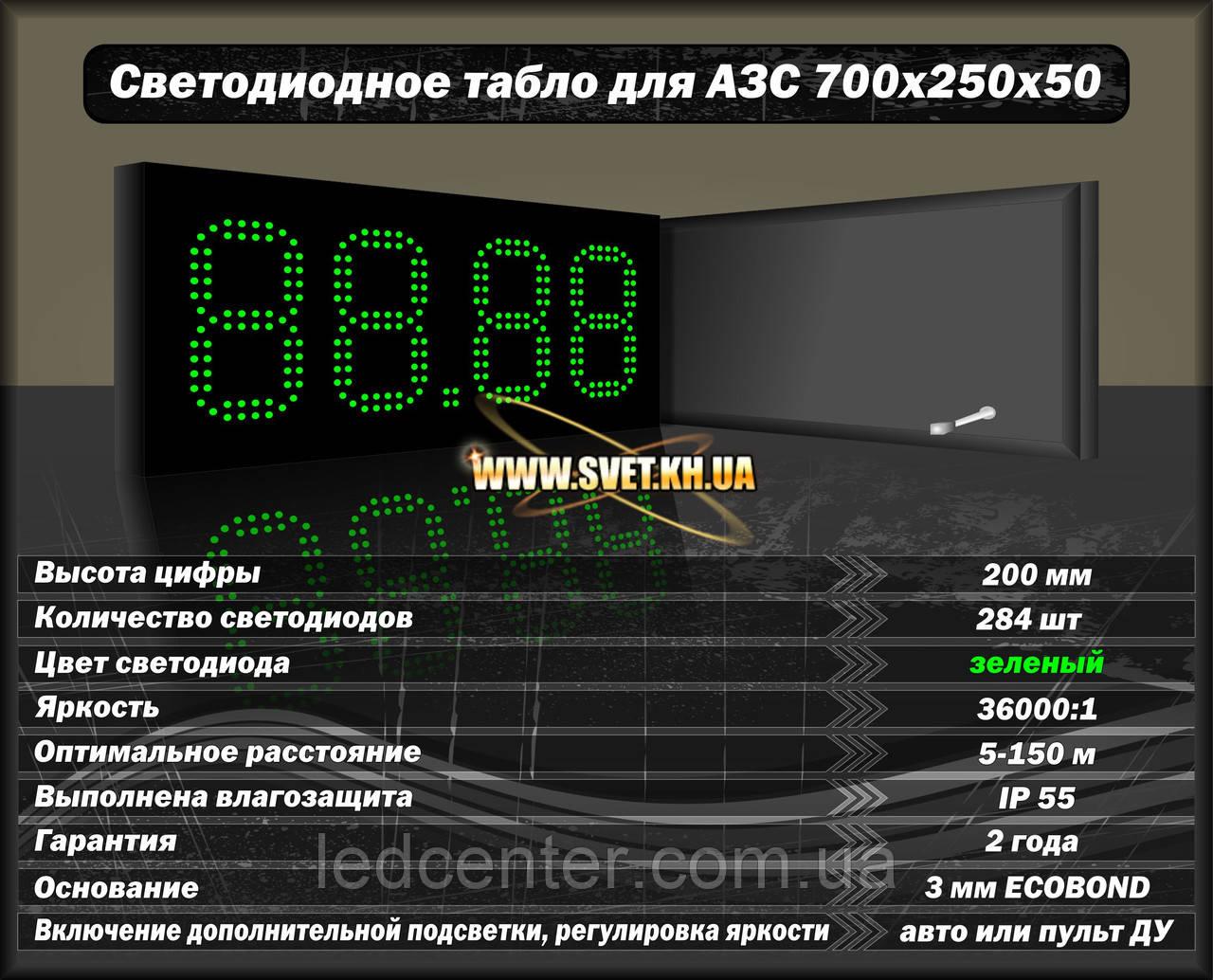 Светодиодное табло для АЗС 700x250x50
