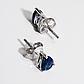 Срібні сережки з шпинелью синій, 1623СШ, фото 2