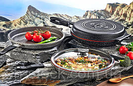 Сковорода-гриль двостороння OMS 3219 black