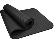 Коврик для фитнеса и йоги NBR (180 х 60 х 1 см) черный