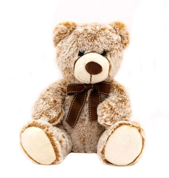 Мягкая игрушка - медведь, 33 см, светло-коричневый, полиэстер (M1422826-2)