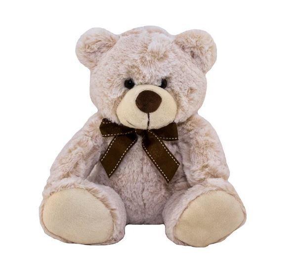 М'яка іграшка - ведмідь, 33 см, бежевий, поліестер (M1422826-3)
