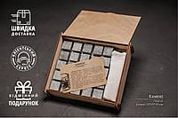 Подарунковий Набір Каменів для Віскі із Стеатиту 25 штук у Дерев'яній Скриньці+Мішечок+Щипці