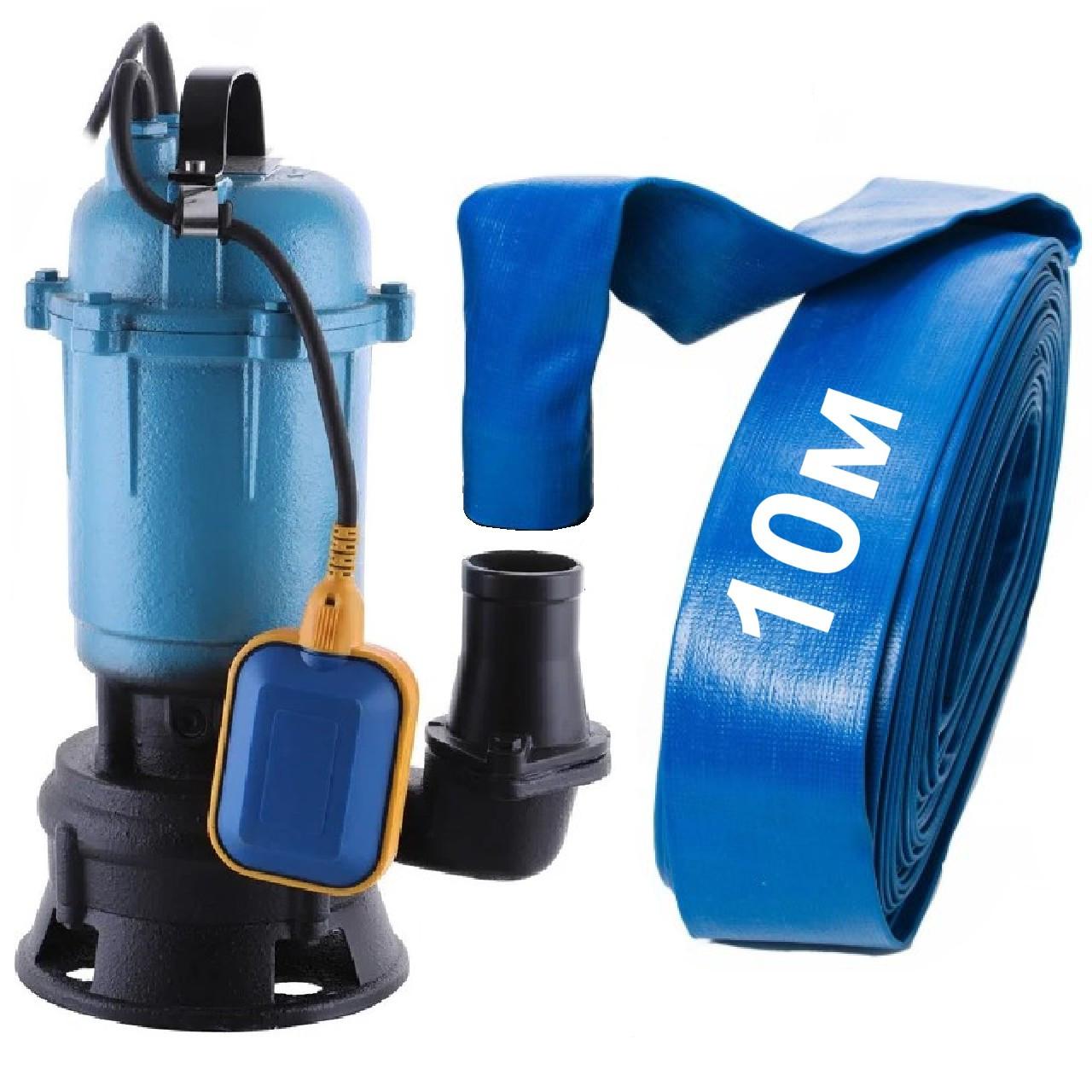 Погружной насос фекальный (дренажный) 1,5 кВт с измельчителем для грязной воды, фекалий, сливных ям WQD 12-10