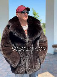 Шуба мужская из песца  Saga Furs, цельный крой