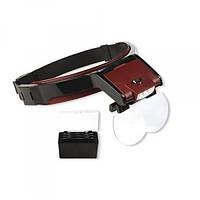 Бинокуляр Magnifier MG81001B з led підсвічуванням (x1,7; х2,0; x2,5; х3,5)