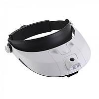 Бинокуляр Magnifier MG81001G з led підсвічуванням (x1,0; х1,5; x2,0; х2,5; х3,5)