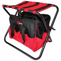 Складаний стілець з сумкою, універсальний, до 90 кг 420 мм x 310 мм x 360 мм INTERTOOL BX-9006