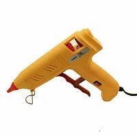 Клейовий пістолет з кнопкою HD-02, під клей 11мм, 120W, жовтий