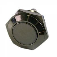 Кнопка антивандальна 16мм без фіксації, 3A 250V PBS