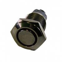 Кнопка антивандальная с подсветкой 16мм без фиксации, 12V PBS