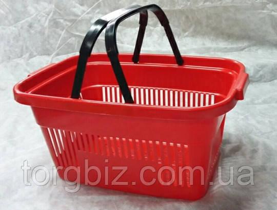 Покупательская  корзина для супермаркетов красная и др. цвета
