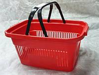 Покупательская  корзина для супермаркетов красная и др. цвета, фото 1