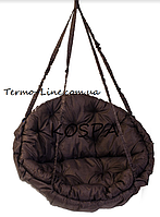 Садовая Качели Гамак производство Украина Lux до 250кг (двухместная) коричневый