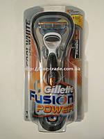 Бритва бритвенный станок Gillette Fusion Power (Жиллет Фьюжин Пауэр) на батарейке вибро