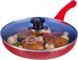 Сковорода HILTON 2230 FP 22 см красная с крышкой