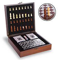Набір Casino 3в1 шахи, доміно, карти
