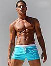 Чоловічі плавки шорти AQUX в яскравому бірюзовому кольорі, фото 6