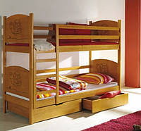 Двухъярусная кровать Arek (без ящиков, цвет яблоня)