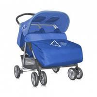 Bertoni Twin blue прогулочная коляска для двойни