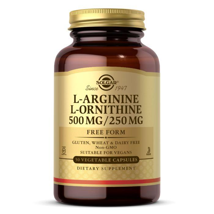Амінокислота Solgar L-Arginine and L-Ornithine, 50 вегакапсул
