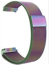 Ремінець BeWatch міланська петля 22мм Milanese loop Браслет для смарт годин універсальний Хамелеон (1020229)