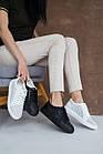 Женские кроссовки кожаные летние белые Yuves 591 Casual Перфорация, фото 2