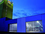 Промислові швидкісні ворота Efaflex у галузі виробництва харчових продуктів та напоїв.