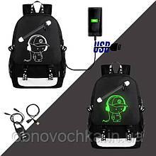 Светящийся рюкзак Senkey&Style. Оригинал! Рисунок светится в темноте
