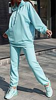 Мятный спортивный женский костюм