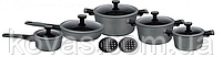 Набір посуду з тришаровим мармуровим покриттям Edenberg EB-5641 - 12 предметів, фото 3