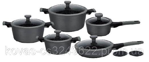 Набір посуду з тришаровим мармуровим покриттям Edenberg EB-5641 - 12 предметів