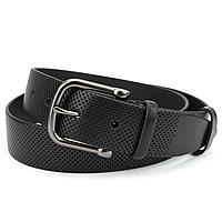 Ремень мужской кожаный под джинсы черный PS-4029 (125 см)