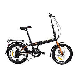 """Велосипед складной GENIO LUNOX 20"""" FLD ST Черно-золотистый"""