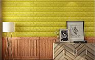 Самоклеюча декоративна 3D панель під дерево кольору золото 700х700х6мм, фото 3